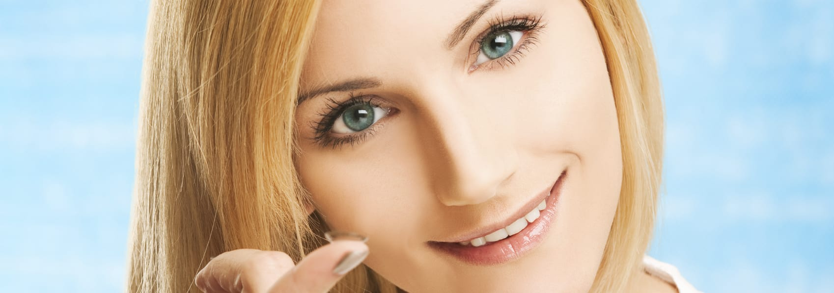 contact lens smiling